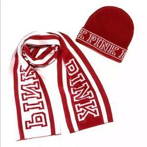 PINK Victoria's Secret hat and scarf set
